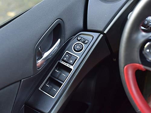 Interieur Stahlabdeckung für Civic Type R IV FK2-4 Stück Elektrische Fensterheber Platte Edelstahl Gebürstet Blenden Cockpit Dekor Mass Angefertigt (2015-honda Civic-zubehör)