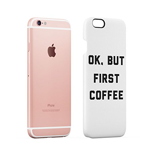 Im Not Always A Bitch Just Kidding Go Fuck Yourself Weiß Dünne Rückschale aus Hartplastik für iPhone 7 & iPhone 8 Handy Hülle Schutzhülle Slim Fit Case cover White First Coffee