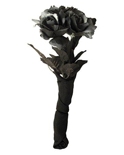 Gothic Blumenstrauß (Braut Kostüme Schwarz)