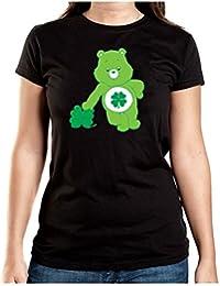Lucky Bear T-Shirt Girls Black Certified Freak