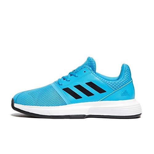 save off 702e4 9b3a2 adidas Unisex Kids  Courtjam Xj Tennis Shoes, Blue Shock Cyan Core Black