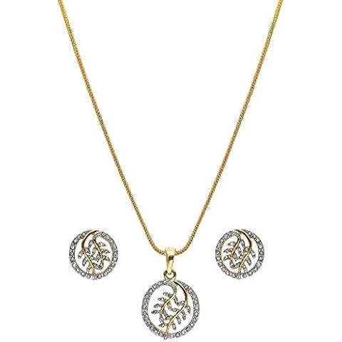 Sempre Londra oro 18K due Tono Placcato Cerchio Orecchini Di Pendente A Forma Di Foglia Con Design in cristallo austriaco AAA Diamanti per ragazza e donna