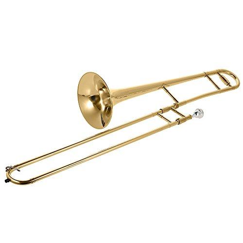AM Mond Tenorposaune Messing Goldlack BB Ton B flat Blasinstrument mit Schale RO Nickel Mundstück Reinigungsstift -Kasten