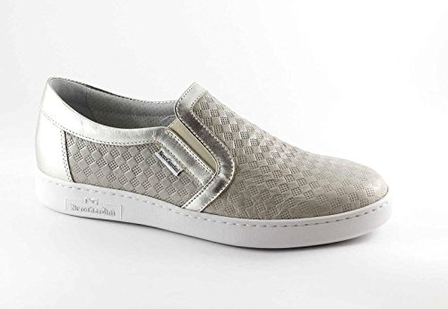 NERO GIARDINI 17256 beige scarpe donna sportive sneakers slip-on Beige