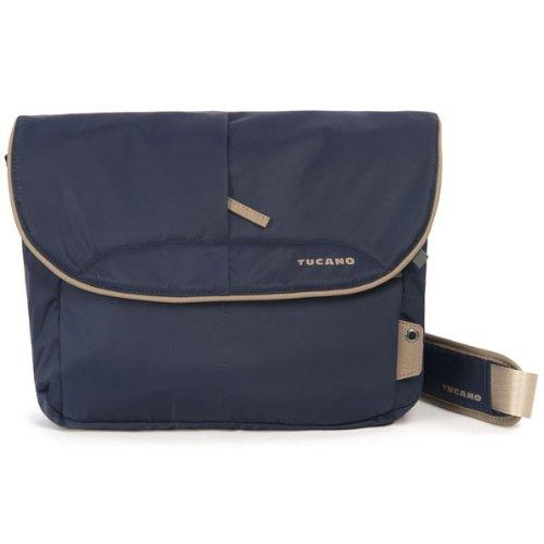 Tucano CBS-L-B Scatto Messenger Tasche für Reflex Kamera Größe L (Außenfach, verstellbarer Trageriemen) blau (Reflex-kamera)