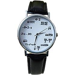 Unisex Watch Physics Maths Formulas Root Hipster Blogger Vintage Silver Black
