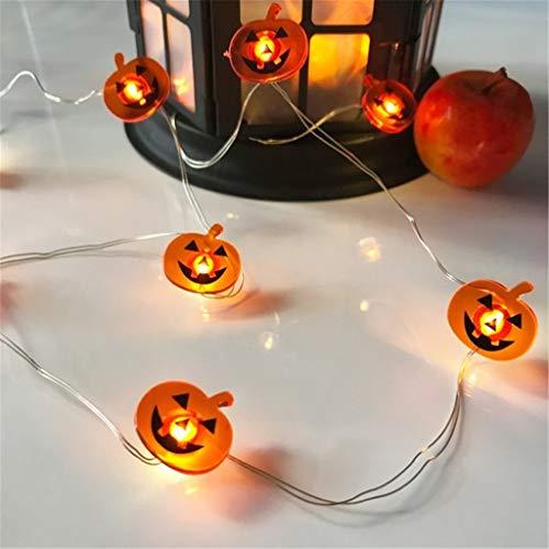 Alisy LED-Lichter, Totenkopf, Kürbisschläger, Licht, Foto-Requisiten für Halloween, Garten, Zuhause, Party, Geschenke, Dekoration, Beleuchtung 2 m C -