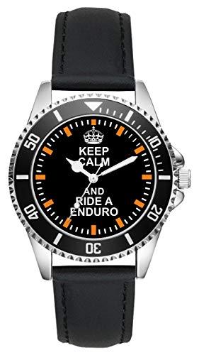 Geschenk für Enduro Biker Motorrad Fans Fahrer Kiesenberg Uhr L-2117