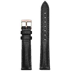 Cluse Damen Uhrenarmband Leder Minuit schwarz CLS368