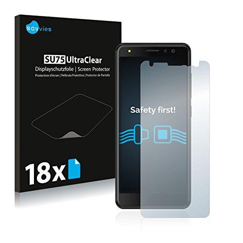 Savvies Schutzfolie kompatibel mit Energizer Power Max P490S (18 Stück) - ultraklare Bildschirmschutz-Folie