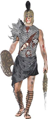 Smiffys, Herren Zombie-Gladiator Kostüm, Brustteil, Schulterteil und Rock, Größe: L, (Gladiator Herren Kostüm Sandalen)