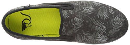 Quiksilver Compass, Baskets mode garçon Multicolore - Mehrfarbig (BLACK/GREY/WHITE)