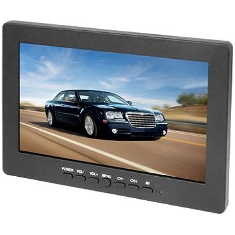 Monitor de color de 7 pulgadas TFT LCD, soporte de tres entradas av canal, altavoz incorporado