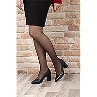 Gön Hakiki Deri Kadın Ayakkabı 14007 LACİVERT ANTİK