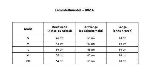 Lammfelljacke - IRMA Damen Jacke Felljacke Winterjacke Lederjacke Merino Fell Size L, Color Beige - 4