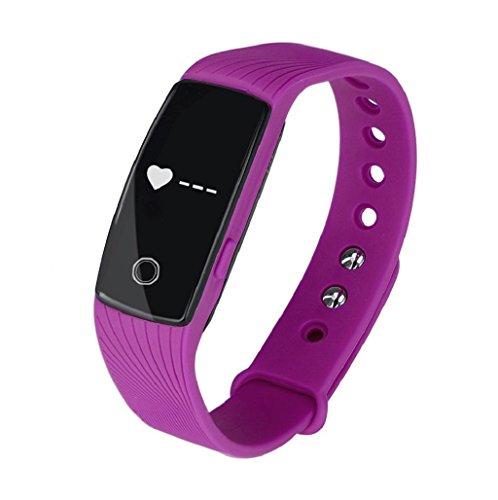 Reloj inteligente Sannysis Smartwatch IOS Android Rastreador de salud (Púrpura)