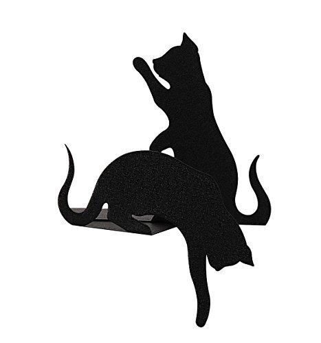arti-e-mestieri-coppia-di-fermalibri-gatti-colore-nero