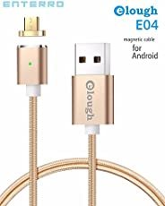 Enterro Magnetic Android USB Data Charging Cable - Lighting Fast Upto 2A - Copper - Nylon Braided - Strong Magnet (Gold)