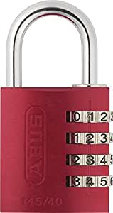 ABUS Aluminium-Zahlenschloss 145/40, rot, 48813