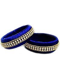 Sugumar Fancy Silk Thread Bangle Set For Women (Size: 2.8, Sugumar Fancy Silk Thread 1--2.8) - B078BRNWCC