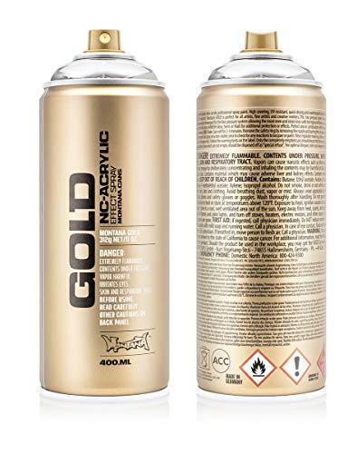 Montana Cans Montana Spray Dose Gold 400ml, Gld400-m1000-Silverchrome, 400 - Montana-spray