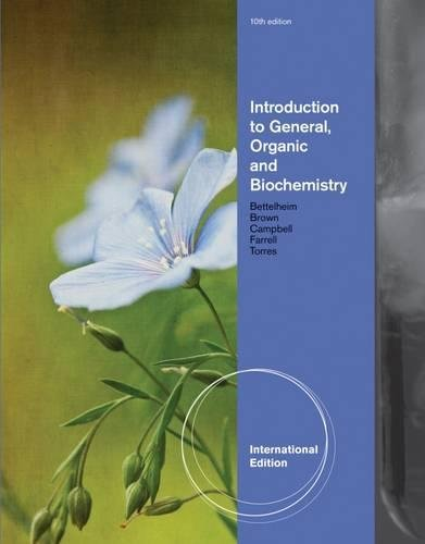 Introduction to General, Organic and Biochemistry, International Edition