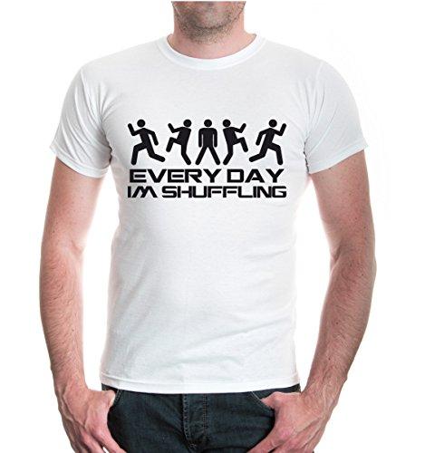 buXsbaum® T-Shirt Every Day Im Shuffling White-Black
