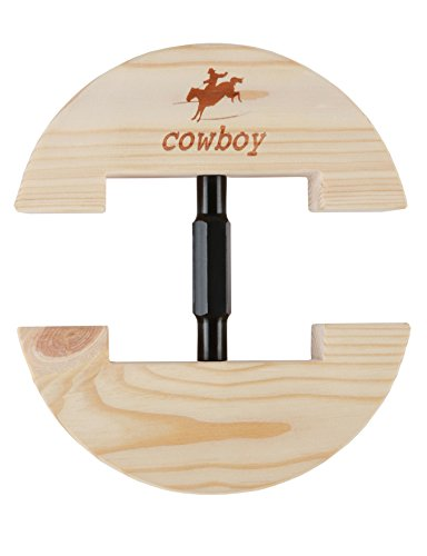 Cowboy®, bunter, verstellbarer und strapazierfähiger Hutspanner, Größe S: 16,5 bis 24 cm, Größe L: 19 bis 27 cm., holz, schwarz, S