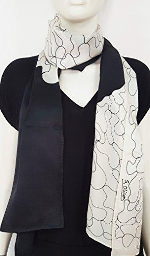 Echarpe , pañuelo, fulard, bufanda de seda pintado a mano.Colores: ne