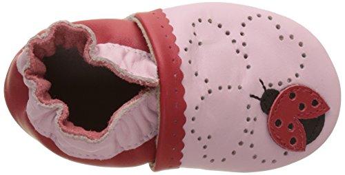 Robeez Lady Bug, Chaussures de Naissance Bébé Fille Rose (Rose)