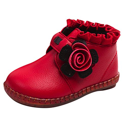 (Beikoard Baby Kinder Warm Jungen Mädchen Floral Weihnachten Sneaker Stiefel Kinder Baby Freizeitschuhe Kinderschuhe Winter Hochzeit Party Schuhe)
