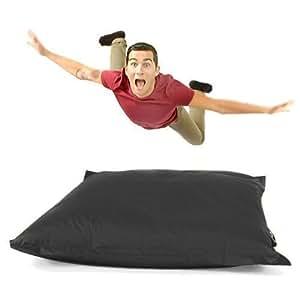 outdoor gro schwarz gartenliege sitzsack bodenkissen wasserfest gamer 110 x 140 cm amazon. Black Bedroom Furniture Sets. Home Design Ideas