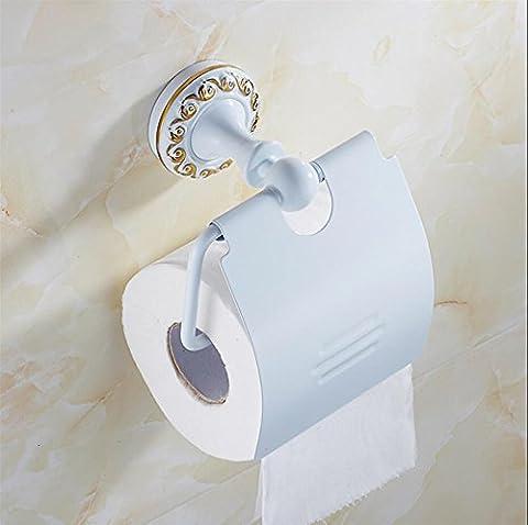 zll grillé Papier Blanc Papier Toilette Serviette/Support/Plateau/salle de bain Antique européenne toilet-white Volume Boîte à mouchoirs en acier inoxydable