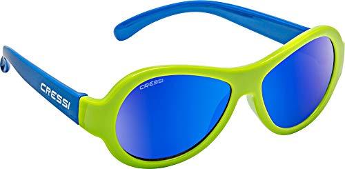 Cressi Unisex- Babys Scooby Sunglasses Polarisiert Kinder Sonnenbrille, Grün Spiegel Linse Blau, 3-5 Jahre