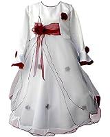 Festtagskleid Blumenmädchenkleid Kommunionskleid Babykleid Taufkleid Kleid Größe 92-146