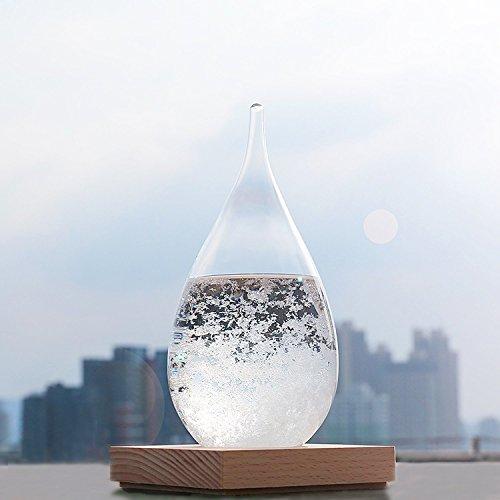 WELLDONE® Storm Glass, Mode kreative Desktop Dekoration Flasche Wasser Glas Barometer Wettervorhersage Wetterstation. (Dekoration)