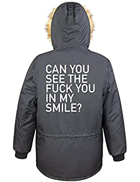Can You See The Fuck You... Parka Girls Nero Certified Freak