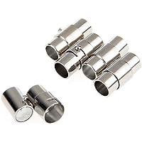 SODIAL(R) 5X Cierre Hebilla Magnetico de Pulsera Collar Nuevo 17 x 8 mm