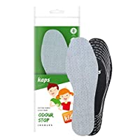 Best Shoe Insoles Inserts for Children | Bad Smell Odour-Eater Technology with Breathable Foam | All Sizes Cut to Fit | Kaps Odour Stop Kids Made in Europe