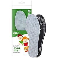 Plantillas de zapatos para niños, tecnología de olor malo con espuma transpirable, todos los tamaños cortados para adaptarse a Kaps Odour Stop Kids fabricado en Europa