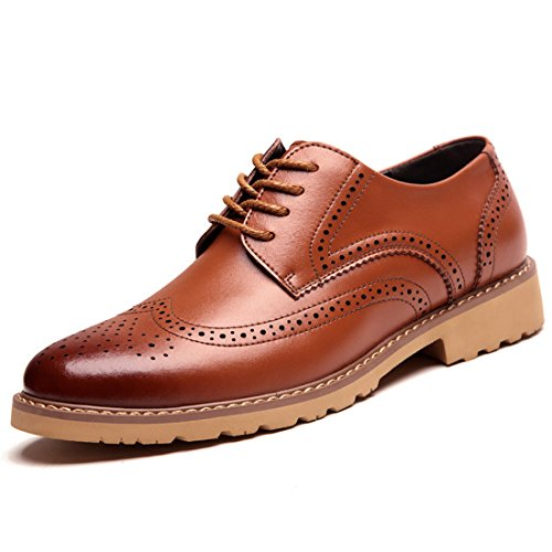 Men's Brogues Bullock PU Leather Lace Up Formal Shoes yellow