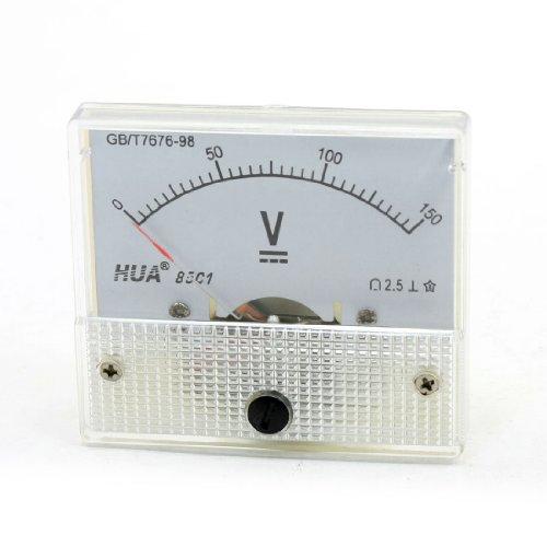 Aexit Analoges Spannungsmessgerät, Genauigkeits-Klasse 2,5, 0–150V Gleichstrom (Analog 150v)