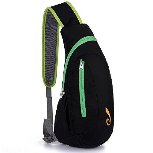 BULAGE Paket Paket Brust-Pakete Freizeit Mode Männer Und Frauen Leicht Ultra-dünn Wasserdicht Nylon Outdoor Sport Langlebig Green