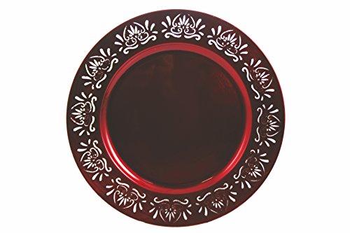 Galileo Casa 2175972 - Dessous de Plat en mélamine Rouge, 33 x 33 x 2 cm