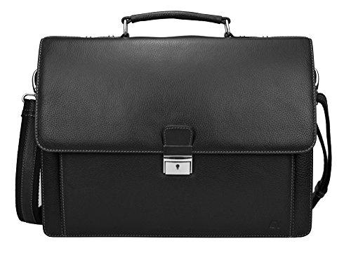 Hochwertige Echt-Leder Business-Tasche aus echt Nappa-Leder Herren Aktentasche Umhängetasche Tasche für Laptop / Tablet / Notebook (Nappa-leder Aktentasche)