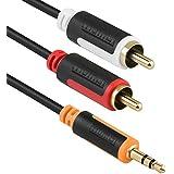 mumbi Câble Y audio–Jack 3,5mm vers 2x RCA avec connecteurs plaqués or 50cm