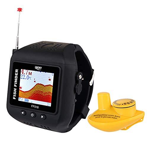 QUARKJK 2 In 1 Watch & Fish Finder Wireless Sonar Watch Fish Finder Portable Echo Fishing Sounder Lightweight LCD-Fishfinder Portable Angeln Gps