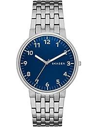Skagen Herren-Armbanduhr Analog Quarz Edelstahl SKW6201