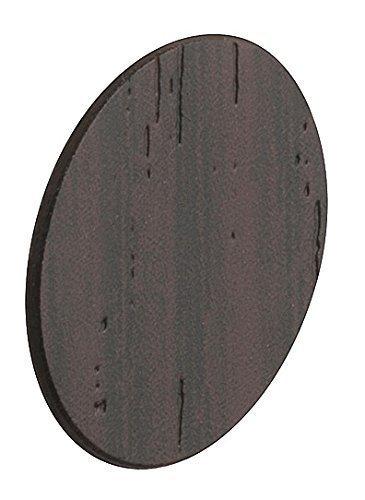 20 Stück - GedoTec Abdeckkappen selbstklebend Capfix überstreichbar | Kappe Wenge Ø 13 mm | Lochabdeckungen Kunststoff für Bohrlöcher, Schrauben uvm. | Markenqualität für Ihren Wohnbereich