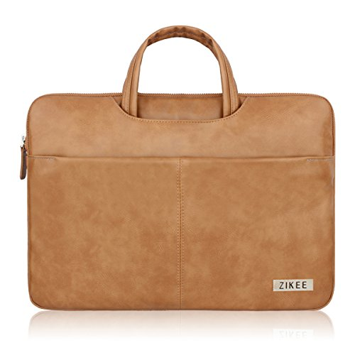 zikee-11-116-inch-water-resistant-faux-leather-360protective-briefcase-slim-laptop-sleeve-with-handl